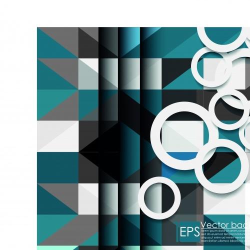 Современный дизайн фоны с кольцами часть 2 | Modern with a ring vector backgrounds set 2