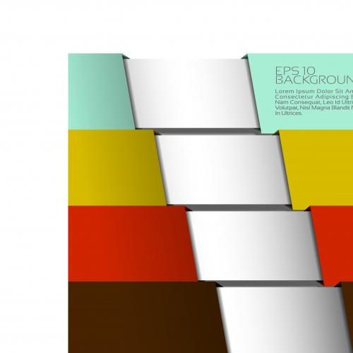 Многослойные цветные фоны | Multilayer colorful abstract vector backgrounds