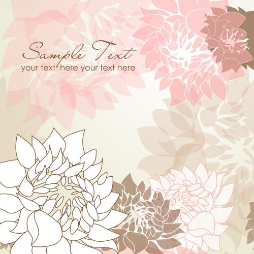 Абстрактный фон с цветами 8 | Abstract flowers background 8