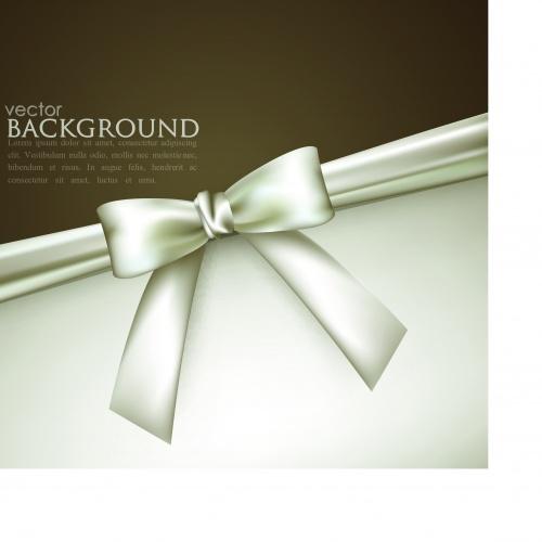 Элегантные фоны с белым бантом | Elegant vector background with white bow