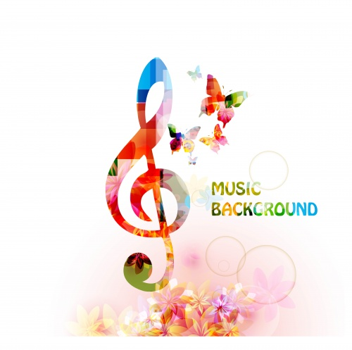 Musical Backgrounds Vector Set #5