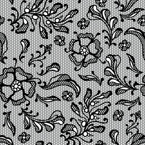 Black Lace Backgrounds Vector