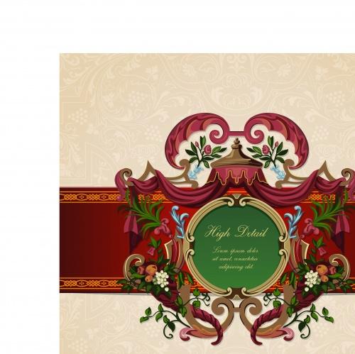 Бордюры и рамки винтаж часть 2 | Borders and frames vintage backgrounds set 2