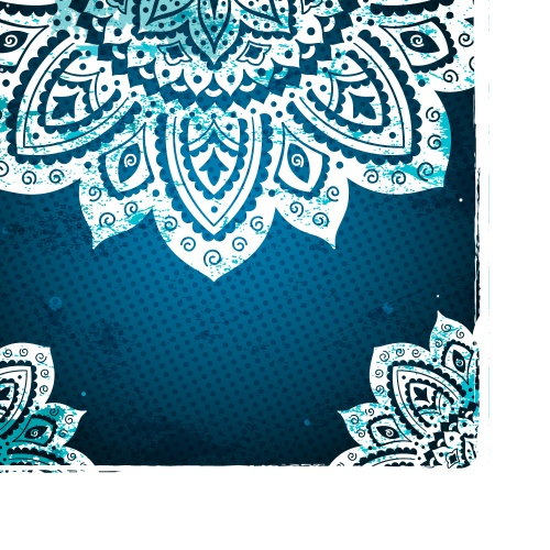 Blue lace ornamental background