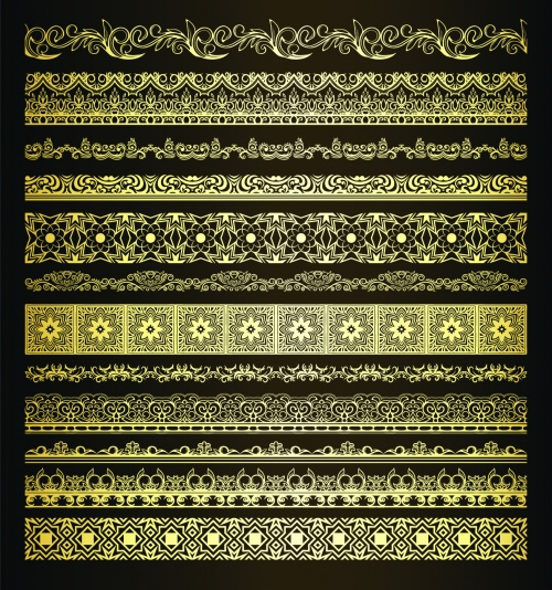 Vintage Golden Borders Vector 2