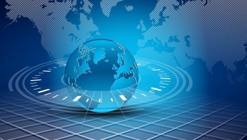 Фон с земным шаром 3 | Background with globe 3