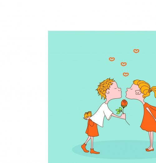 День святого валентина шуточные открытки фоны | Happy Valentine's Day greeting card illustration vector