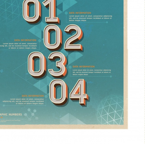 Infographics and number banner design