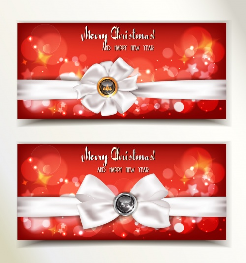 Gift Cards with Bows Vector