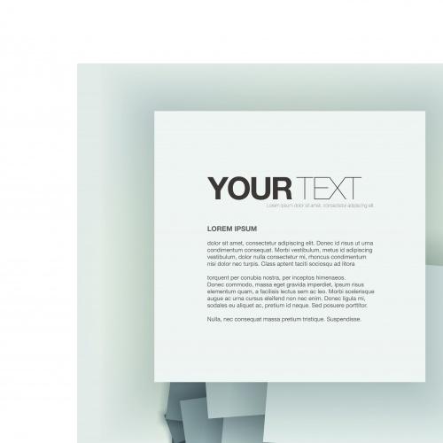 Бизнес шаблоны чисты лист | Blank sheet of business template vector