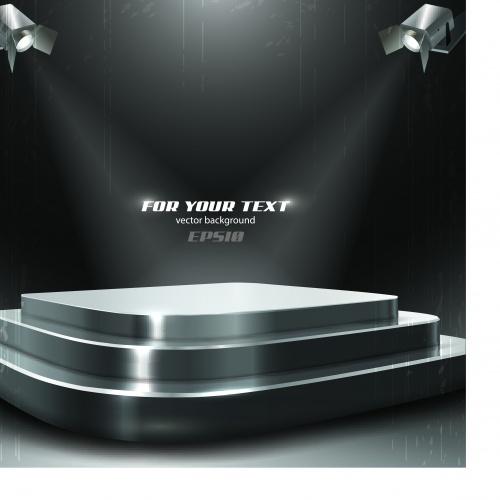 Освещение фонарь и прожектор | Lighting lamp spotlight vector background