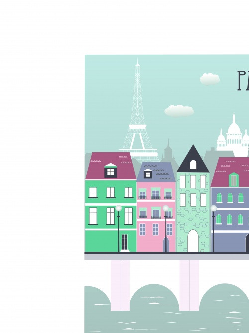 Города Лондон Париж Рим и Нью Йорк | Town London Paris Rome and New York City vector