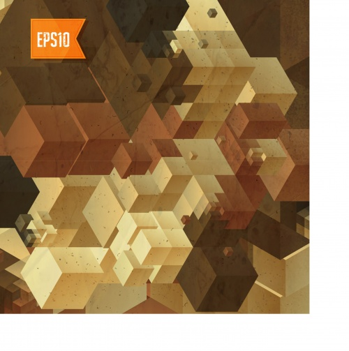 Retro cubes background