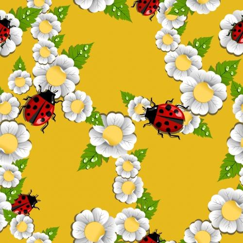 Весенние ромашки в векторе | Spring camomiles in a vector
