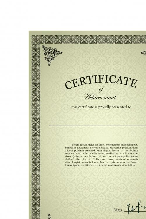 Дипломы и сертификаты часть 36 | Diploma and certificates vector set 36