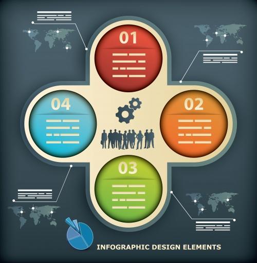 Векторные элементы инфографики для дизайна / Infographic design element in vector set