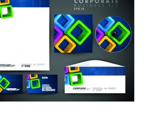 Корпоративный стиль часть 12 | Corporate business style vector set 12