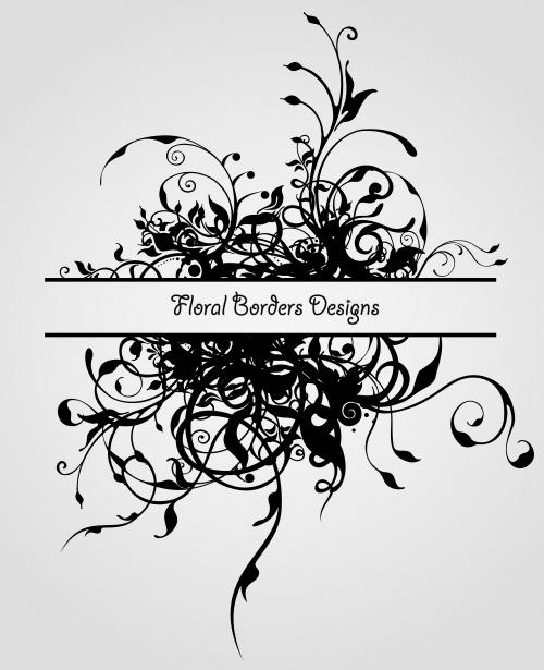 Винтажные цветочные элементы / Vintage Design Ornament Flowers in vector