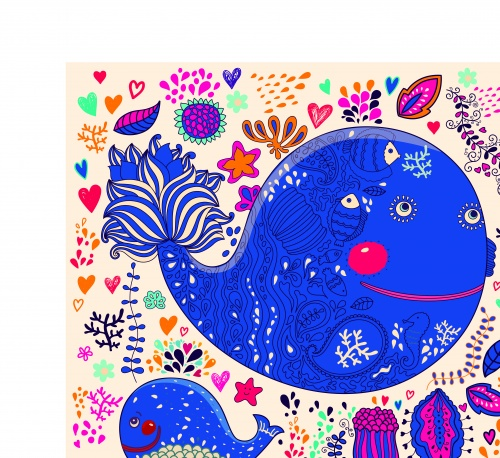 Абстракция детские фоны | Abstract children vector backgrounds
