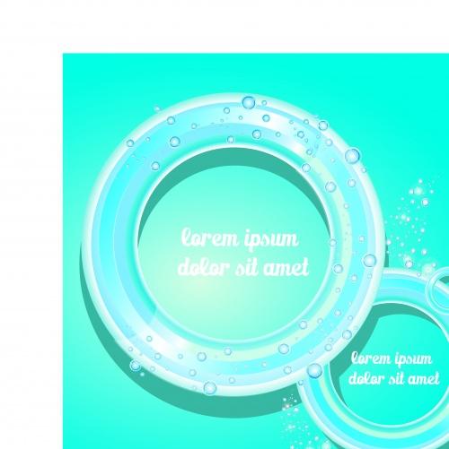Голубые шаблоны облако для текста | Glossy blue speech bubble background vector