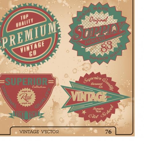 Grunge vintage elements