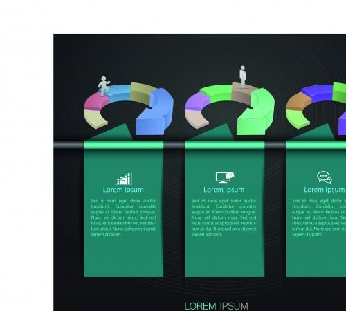 Инфографики креативный дизайн часть 10 | Infographic creative design vector set 10