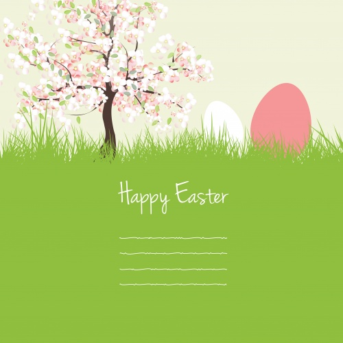 Нежные весенние фоны к пасхе в векторе | Gentle spring backgrounds by Easter in a vector