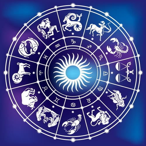 Zodiac signs in a vector