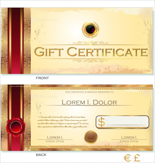 Certificates & Guilloche Elements Vector 2