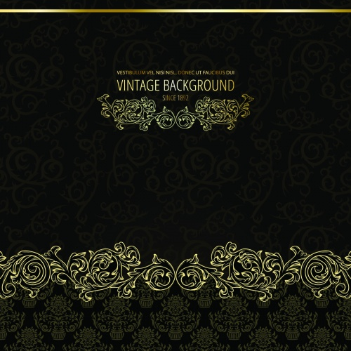 Elegant Vintage Floral Backgrounds