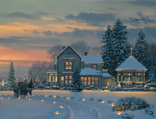 Праздничные Новогодние и рождественские фоны