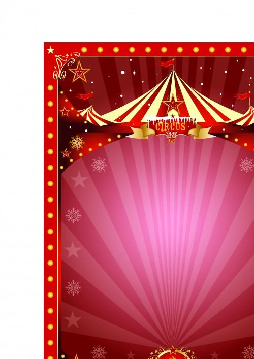 Цирк постеры часть 5 | Circus poster vector set 5