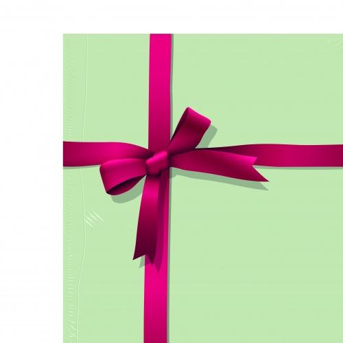 Лист бумаги перевязанный лентой | Blank sheet and ribbon vector set 9