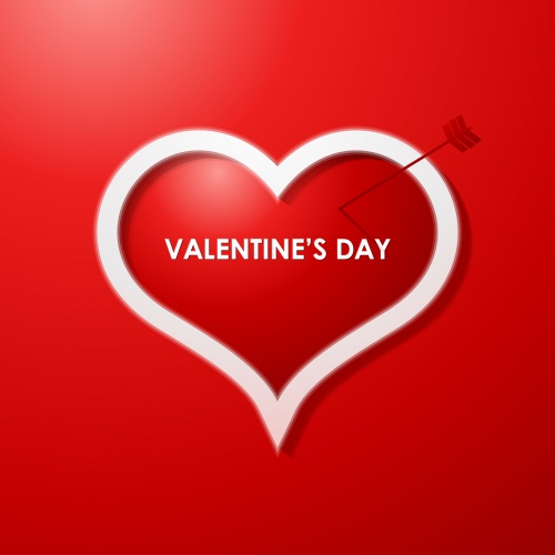 Фоны с сердцем  Stock: Valentines day card design background, eps 10