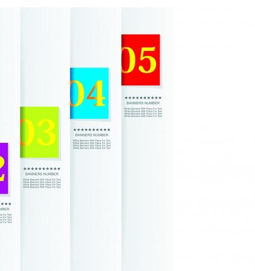 Баннеры с номерами часть 12 | Banner numder vector set 12