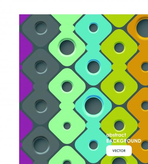 Фоны с отверстиями часть 2 | Hole vector backgrounds set 2