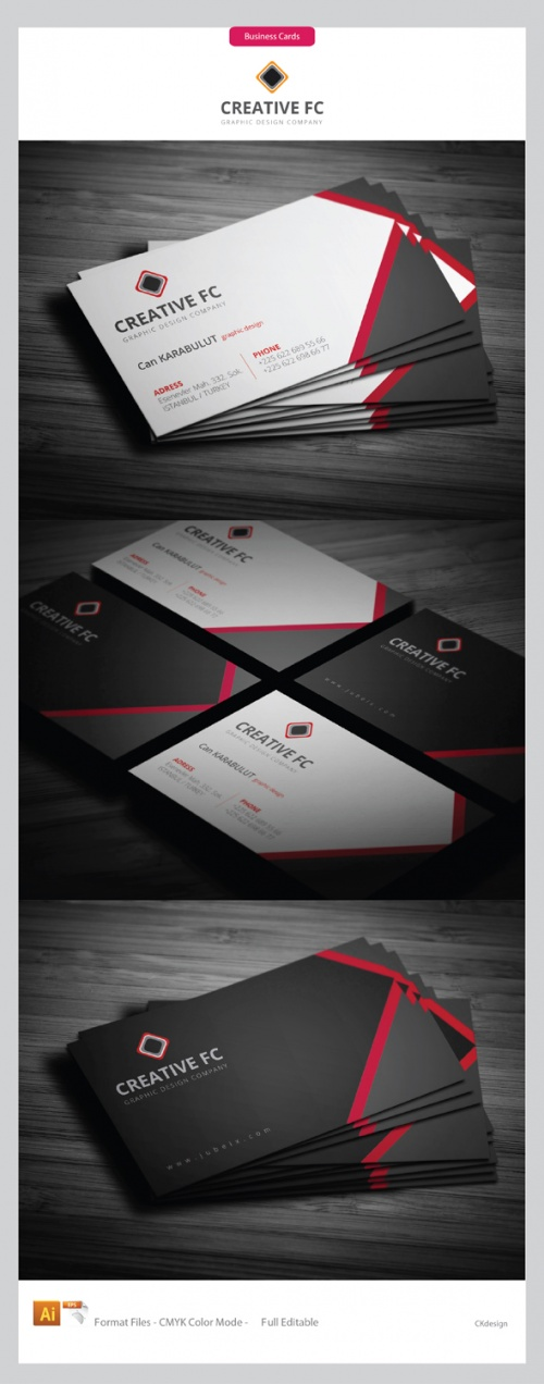 Creative FC Corporate Business Cards PSD Template