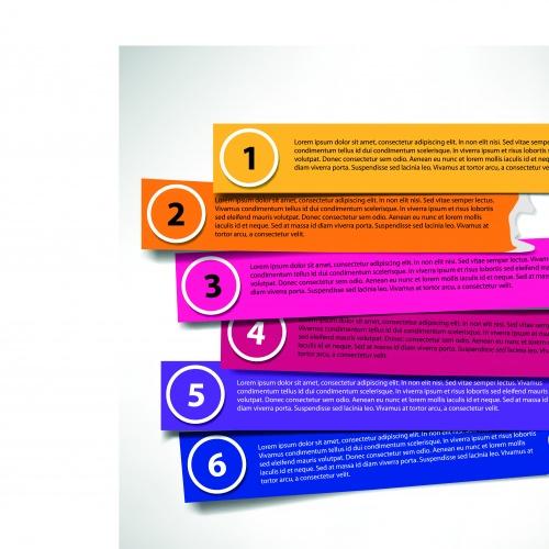 Баннеры с номерами часть 9 | Number banners vector set 9