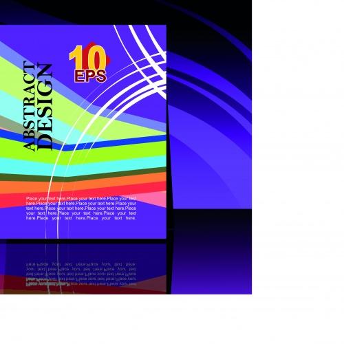 Глянцевая обложка флаер часть 2 | Gloss cover flyer vector set 2
