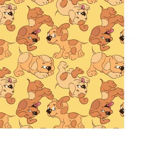 Seamless pattern with funny cartoon animals