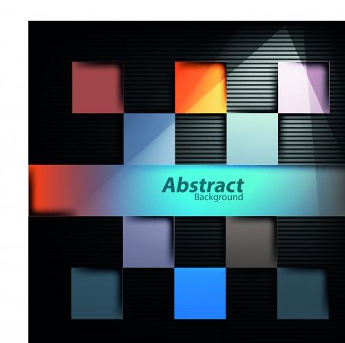 Абстракция цветные квадраты фоны | Abstract blocks structure vector backgrounds