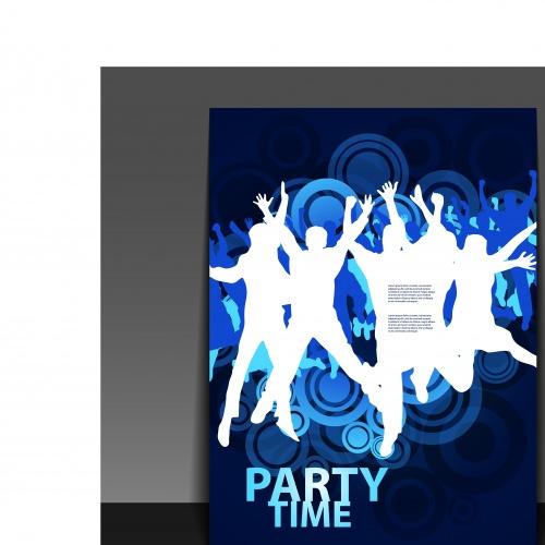 Флаеры на музыкальную вечеринку в клуб | Modern Flyer Dance Party at club vector