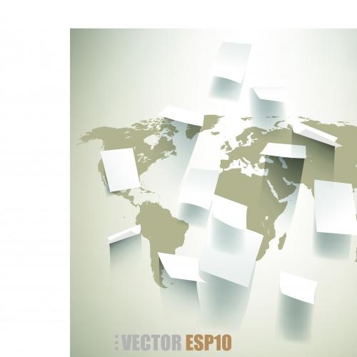 Повреждённая бумага фоны | Torn paper modern design vector background