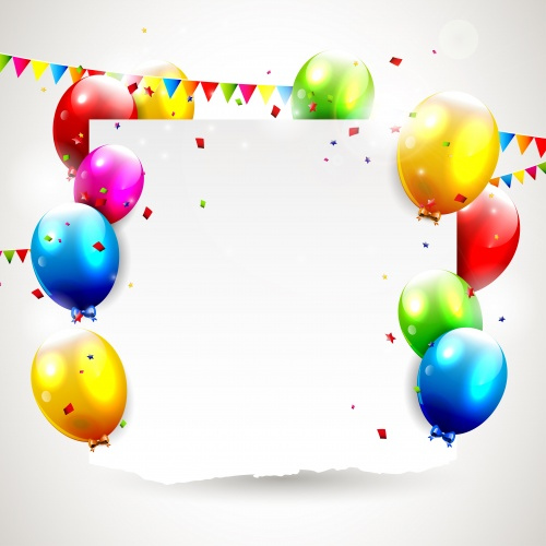 Воздушные шары  Stock: Birthday background with balloons