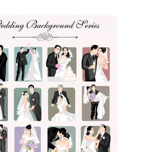 Свадебные фоны | Wedding vector backgrounds