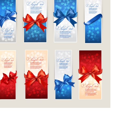 Set of gift cards and banners