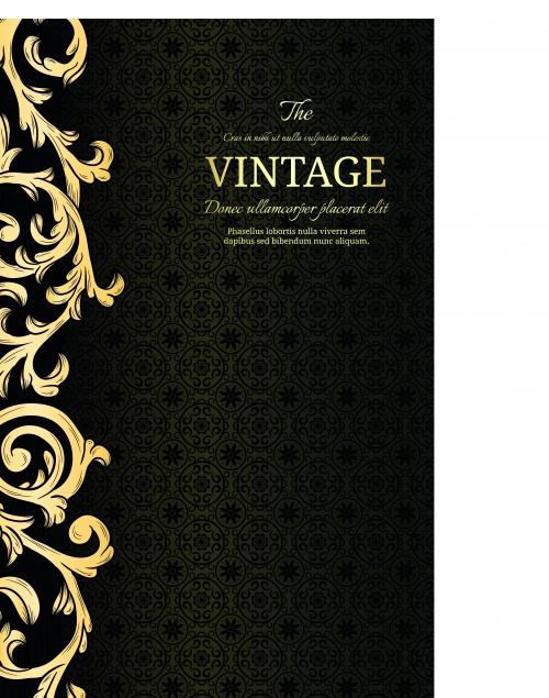Страница винтажного альбома | Vintage album page vector background
