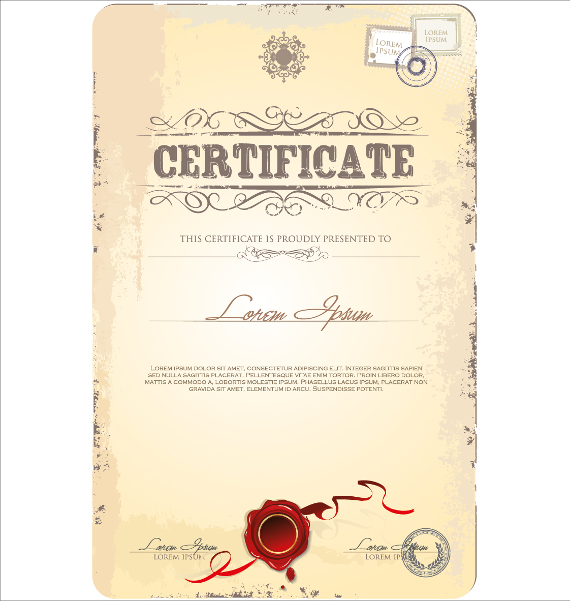 Vector japanese certificate template free vector download
