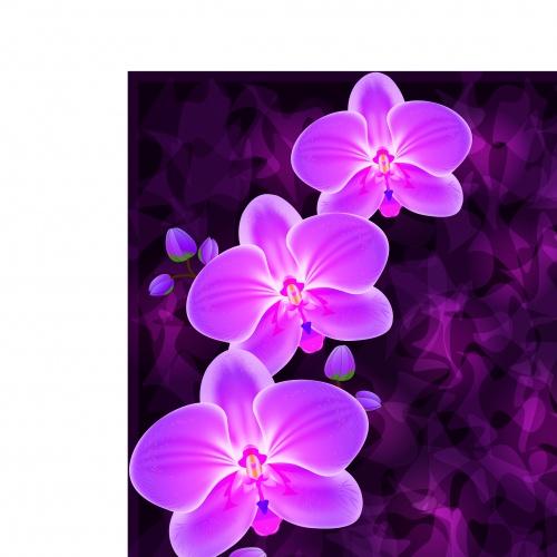 Пригласительные или открытки с цветами | Invitation or greeting card with flower vector