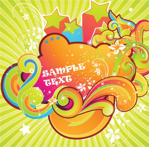 Цветные завитушки - Векторный клипарт | Color swirl - Stock Vectors